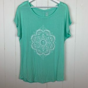 Gaiam Yoga Athletic Graphic T Shirt Large